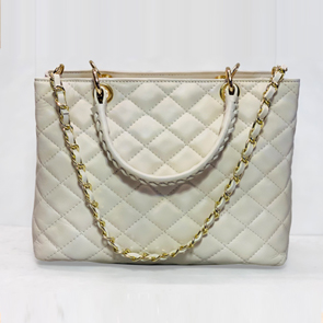 She Paid Quilted Leather Handbag
