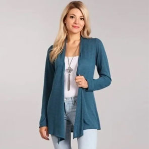 Essential Plus Size Knit Cardigan Teal